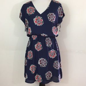 Express dress size xs navy backround